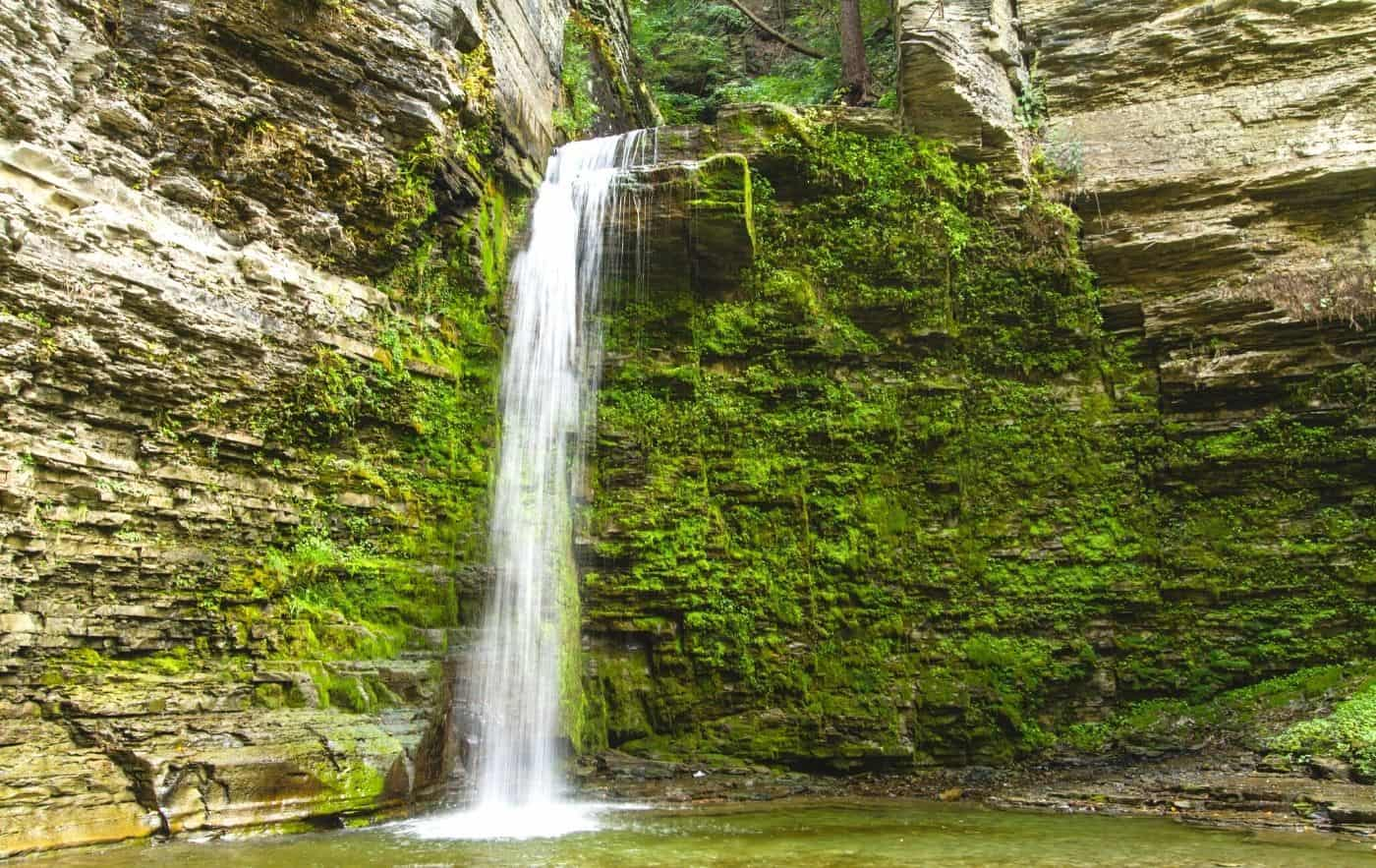 Eagle Cliff Falls, one of the best waterfalls in New York