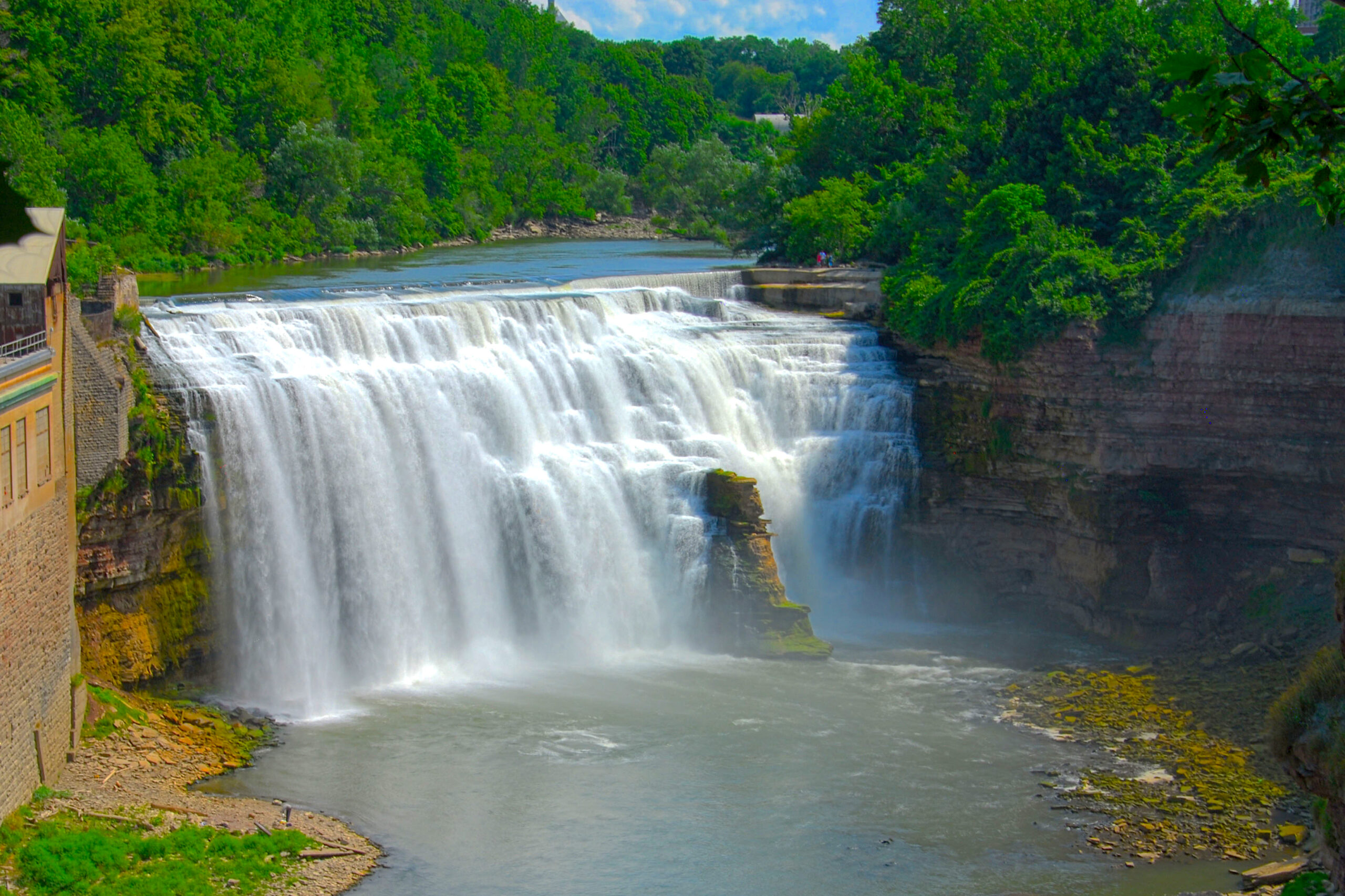 Lower Falls of the Genesee River in Rochester, NY.