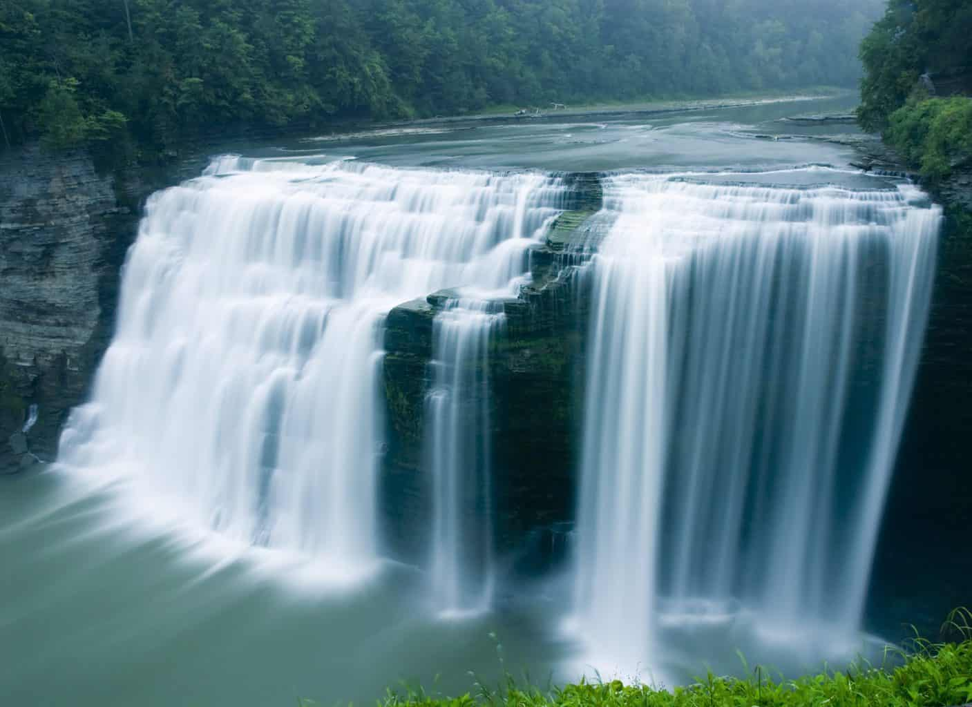 The Middle falls in Letchworth State Park on the Genesee River in NY.
