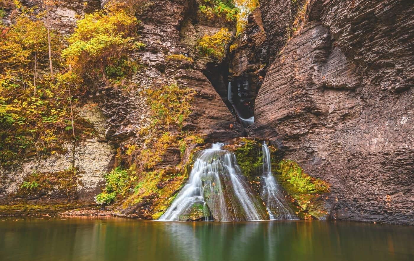 Mine Kill Falls, Best Waterfalls in New York in the Catskills.