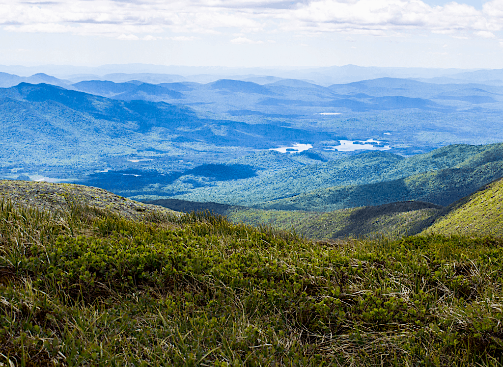 Stellar viees of the Adirondack Mountains from atop Mount Marcy.