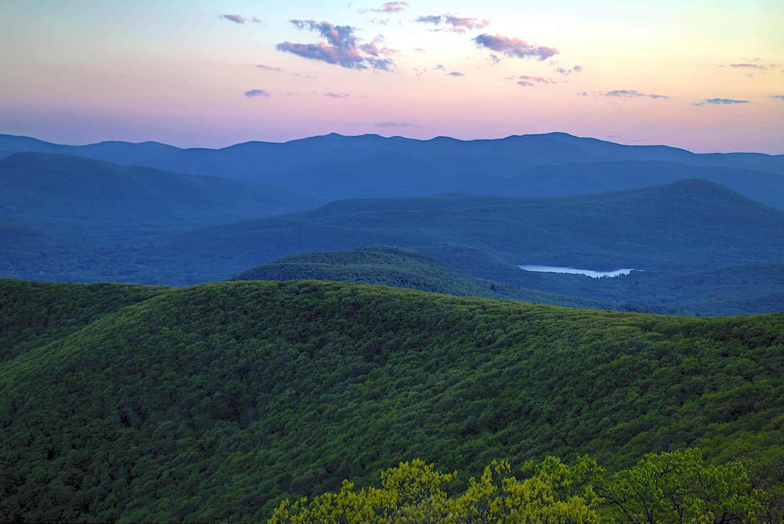 The view from Overlook Mountain in the Catskills.