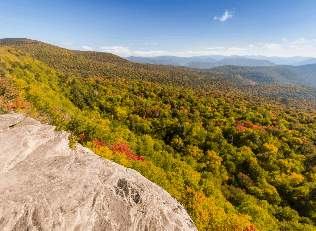 Sweeping views from Giant Ledge and the top of Panther Mountain.