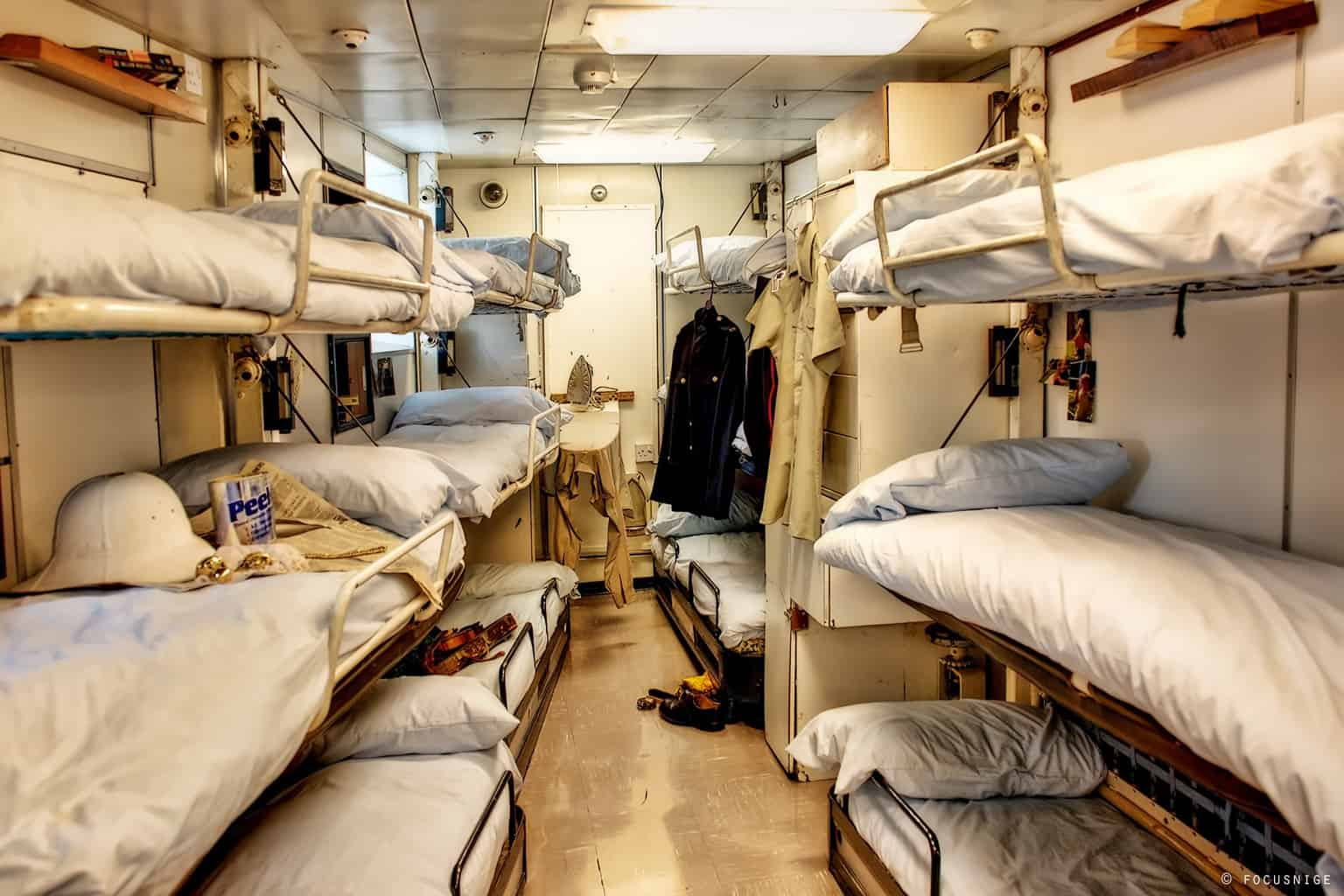 The living quarters inside the Royal Yacht Britannia, one of the most famous Edinburgh landmarks.