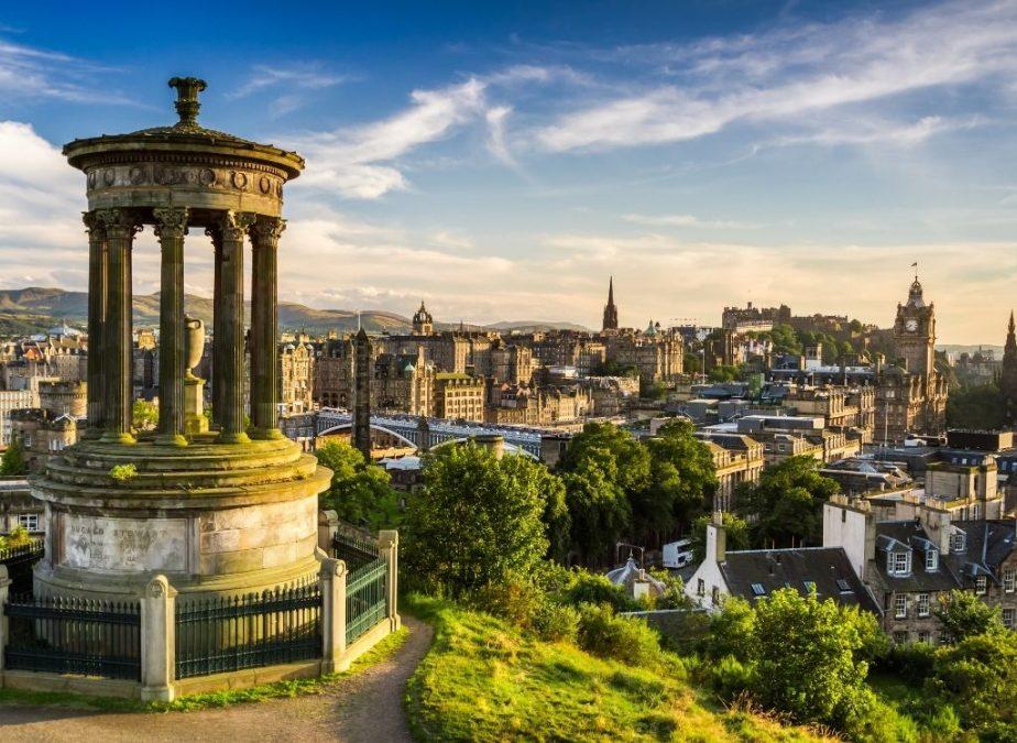 A view of Edinburgh from Calton Hill.