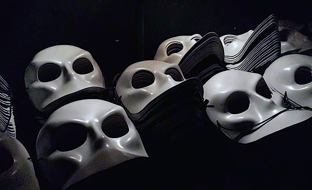 Some of the masks you wear for the Sleep No More Performance.