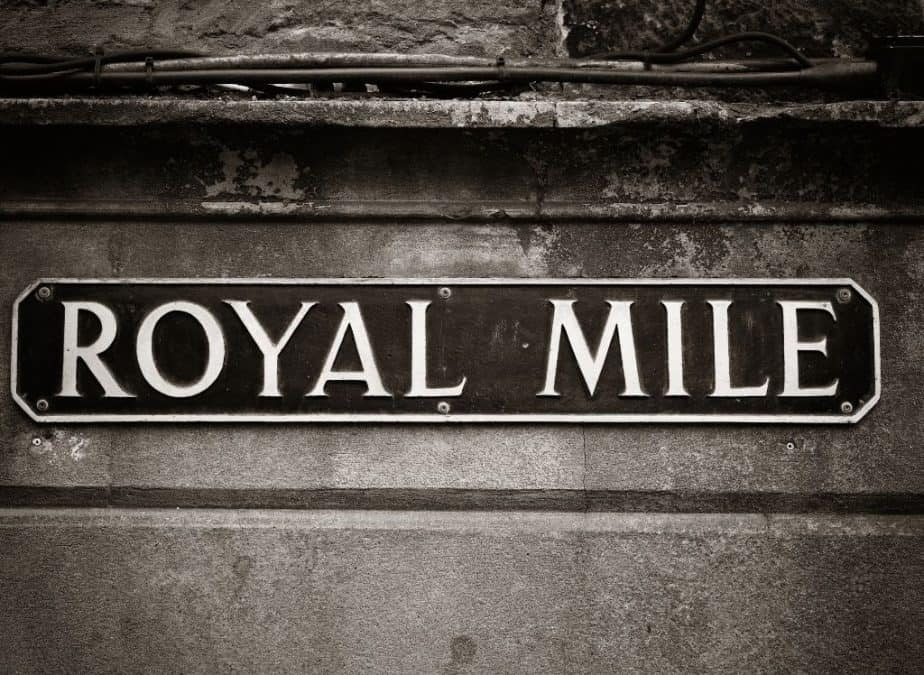 A sign for the Royal Mile.