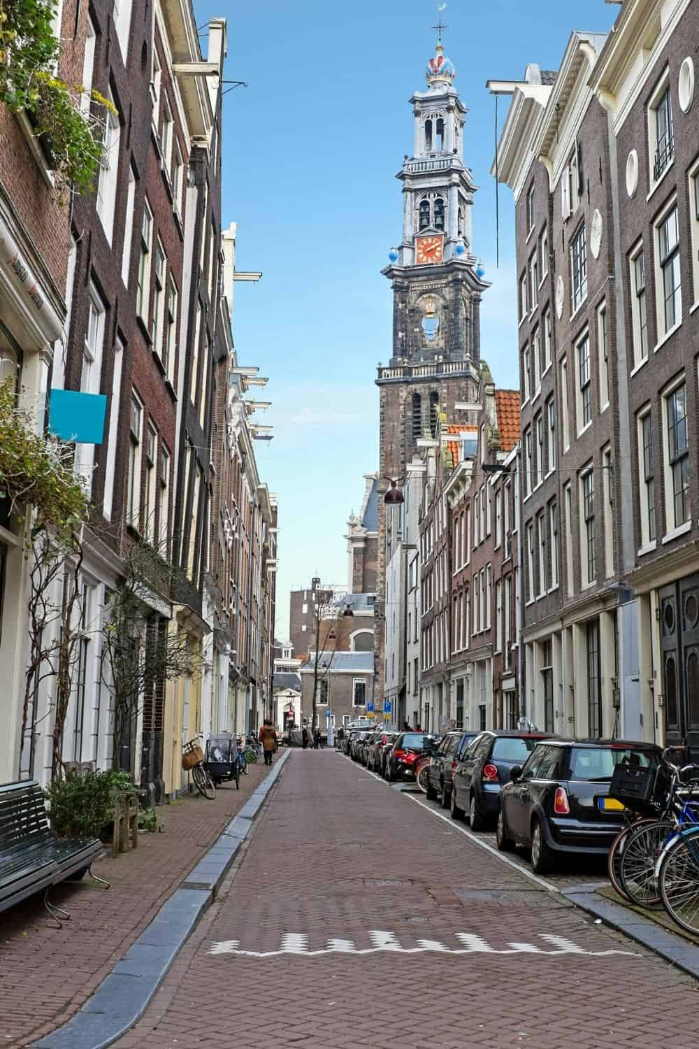 Explore some of the charming streets in Amsterdam's famous Jordaan neighborhood.