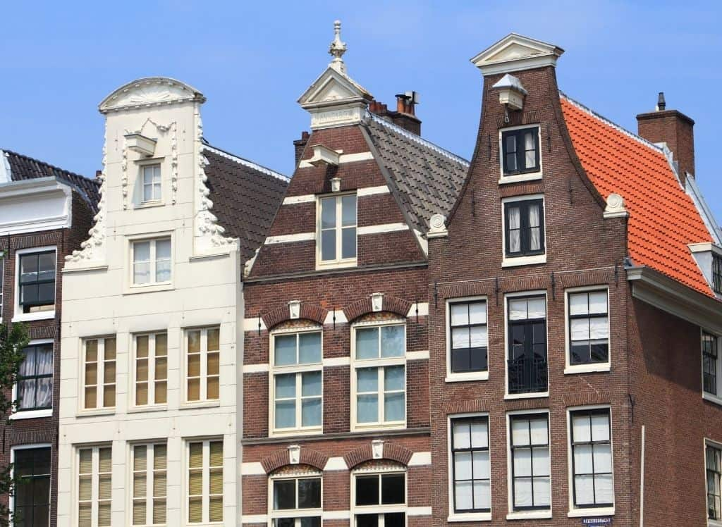 Some of the beautiful homes along Keizersgracht in Amsterdam.