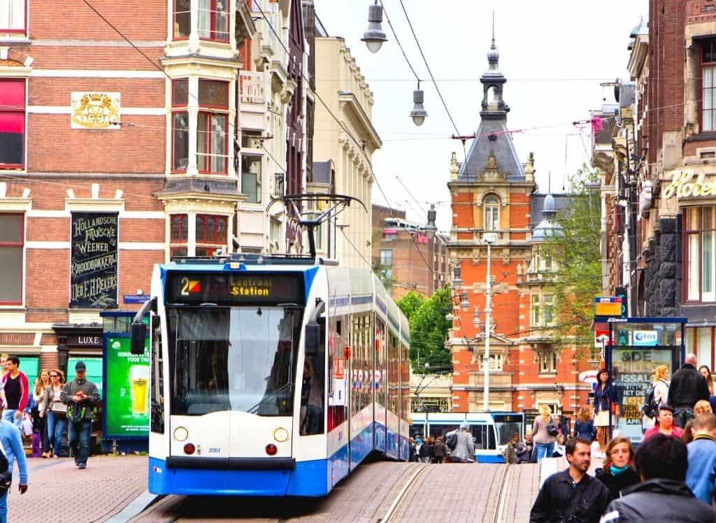 Leidsestraat in central Amsterdam.