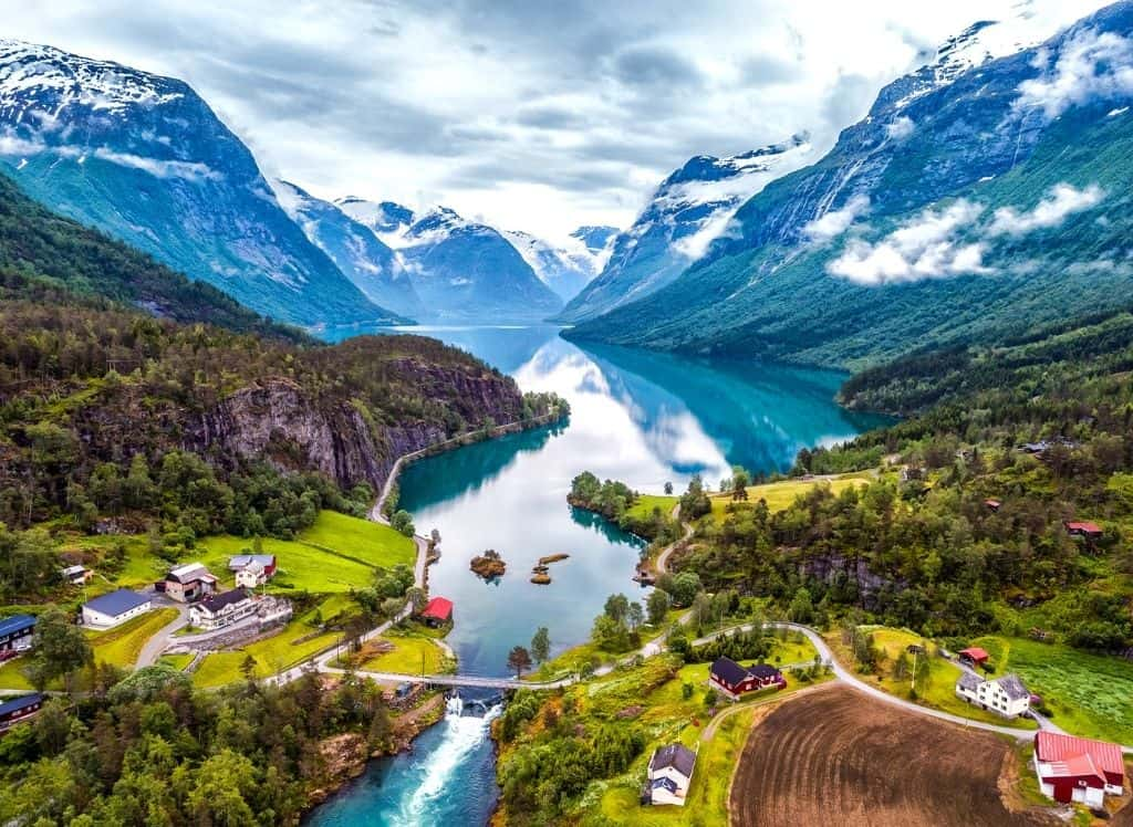 Some of the beautiful fjords in Norway.