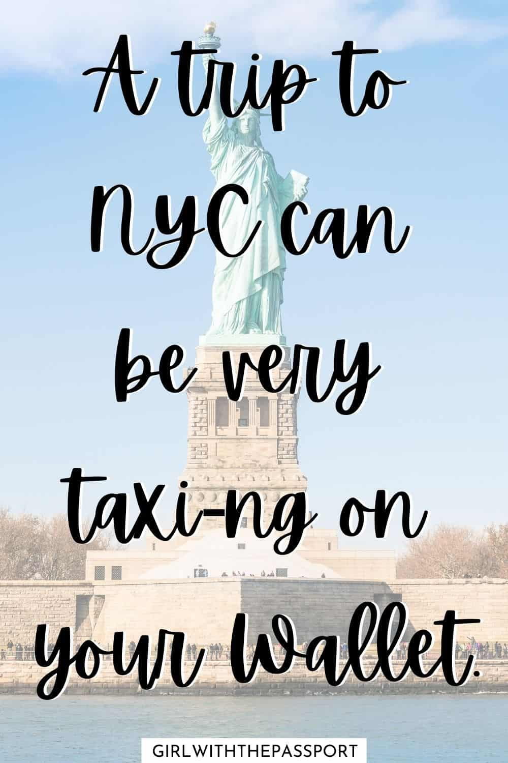 A trip to NYC can be very taxi-ng on your wallet. One of the best Instagram captions for New York.