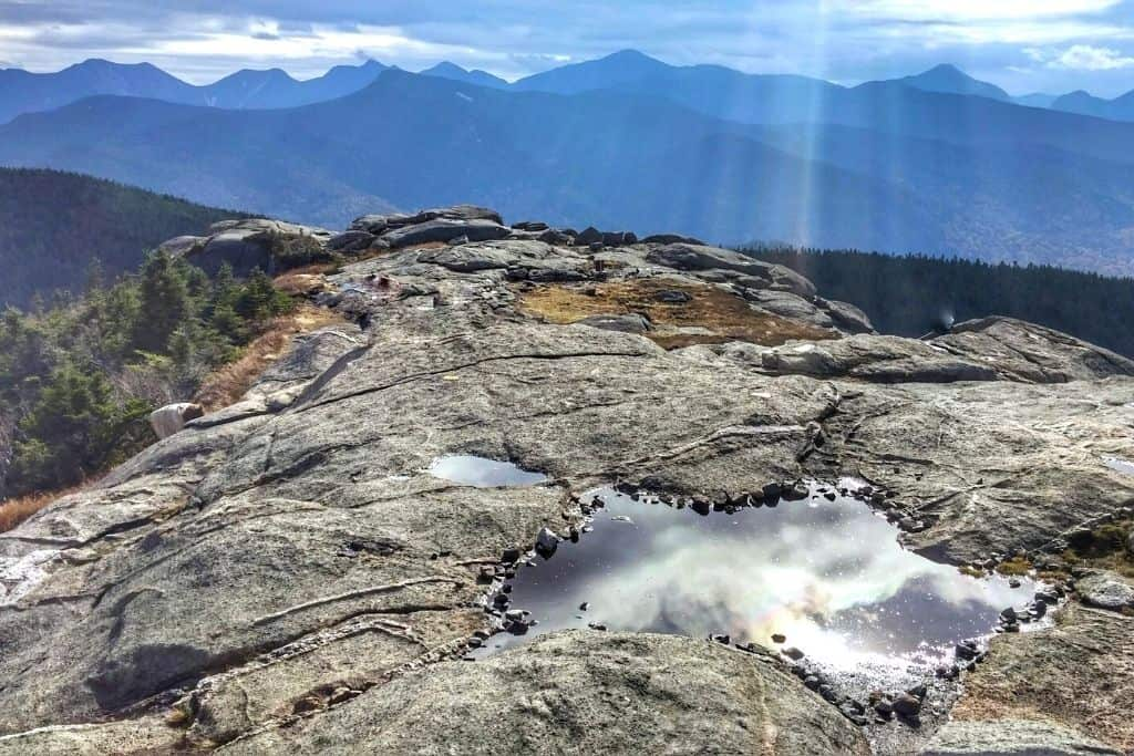 Panoramic views from Cascade Mountain in the Adirondacks.