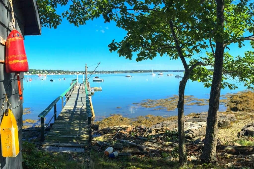 Water view from Roger's Island in Castine, Maine.