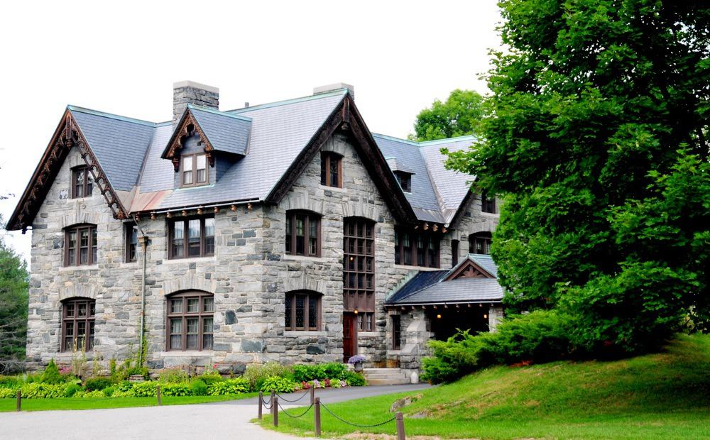 The beautiful stone buildings of Castle Hill resort and Spa.