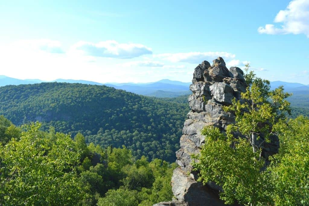 "The ""Chimney Rock"" you'll see at the top of Chimney Mountain."