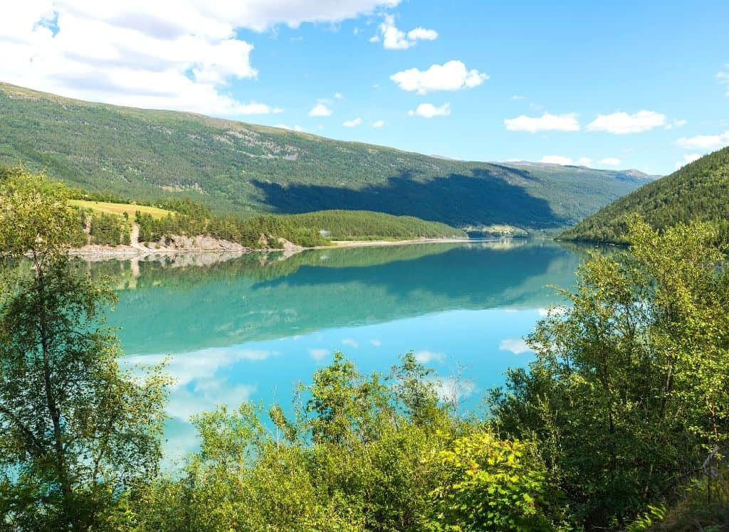 The turquoise waters and natural landscape of Jotunheimen National Park easily make it one of the most beautiful places in Norway.