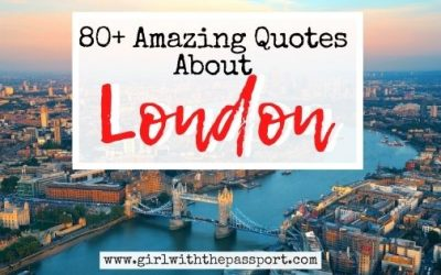 80+ Best Quotes about London