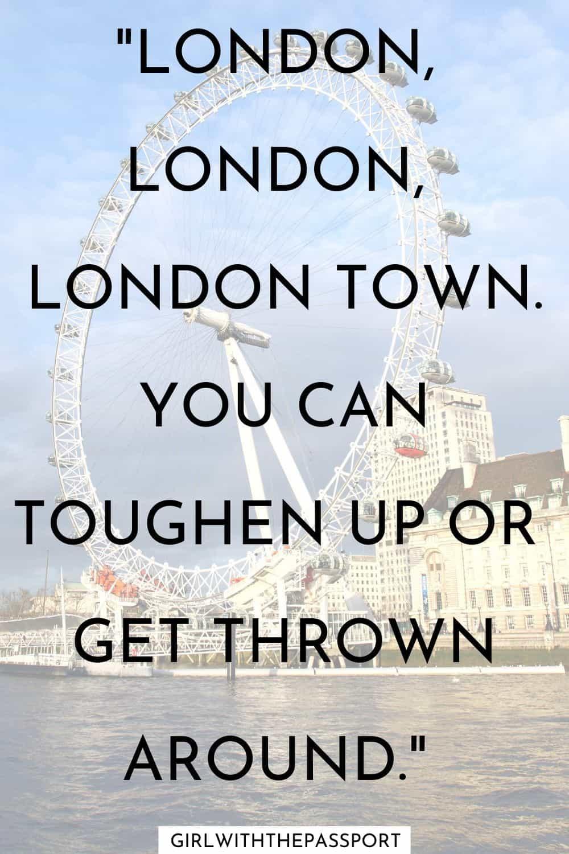 London song lyrics