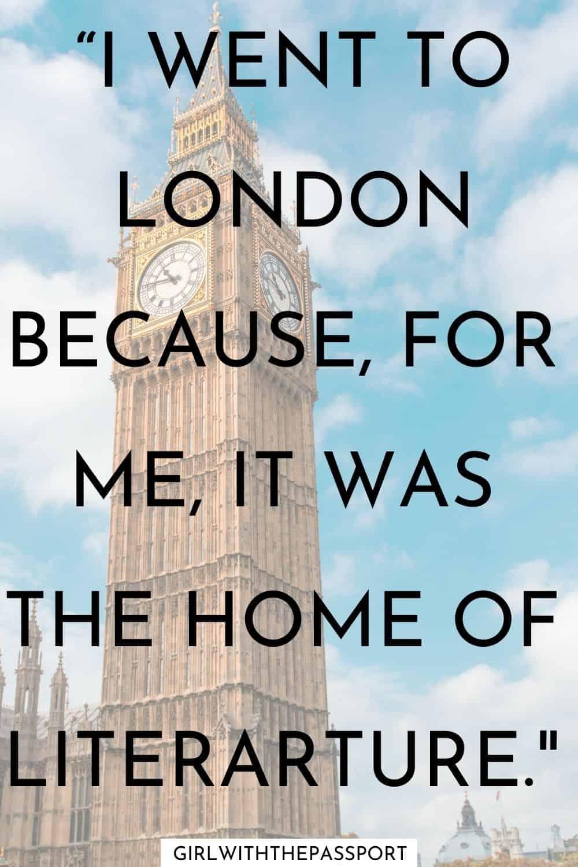London Travel Quotes