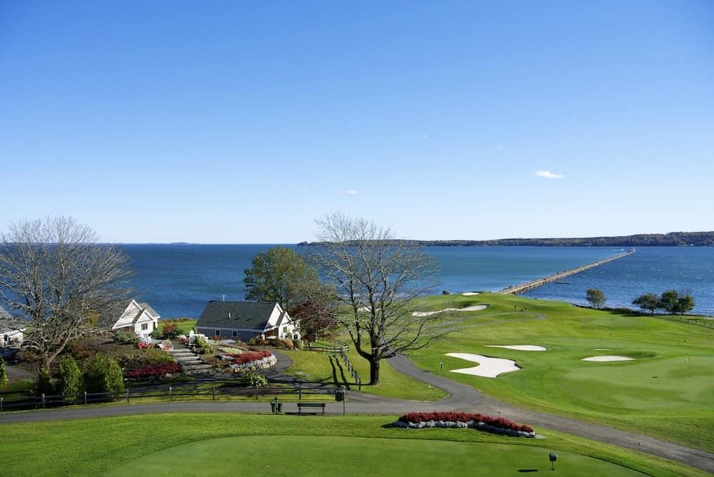 Waterfront views from Samoset Resort in Maine.