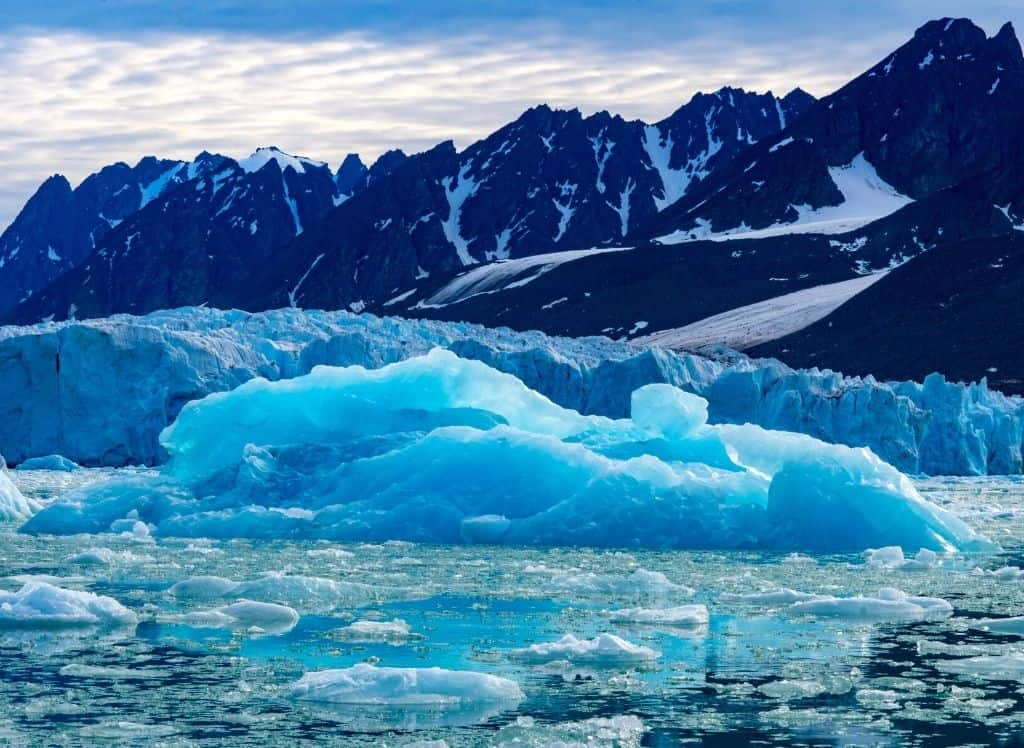Some of the amazing ice formations you'll find in Svalbard, one of the most beautiful places in Norway.