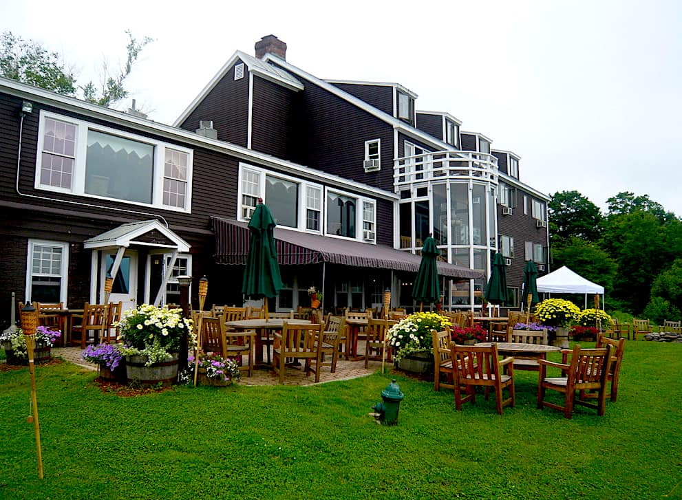 The beautiful exterior of the Moutain Top Inn and Resort. One of the many romantic getaways in Vermont.