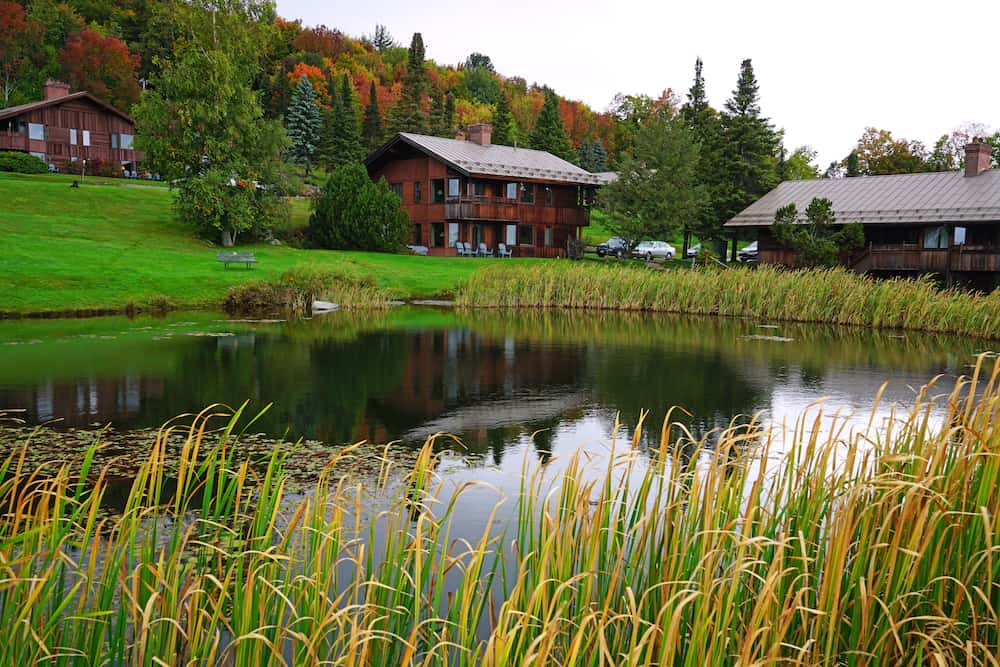 The mountain cabins and scenic views that make the Traps Family Lodge one of the most romantic getaways in Vermont.