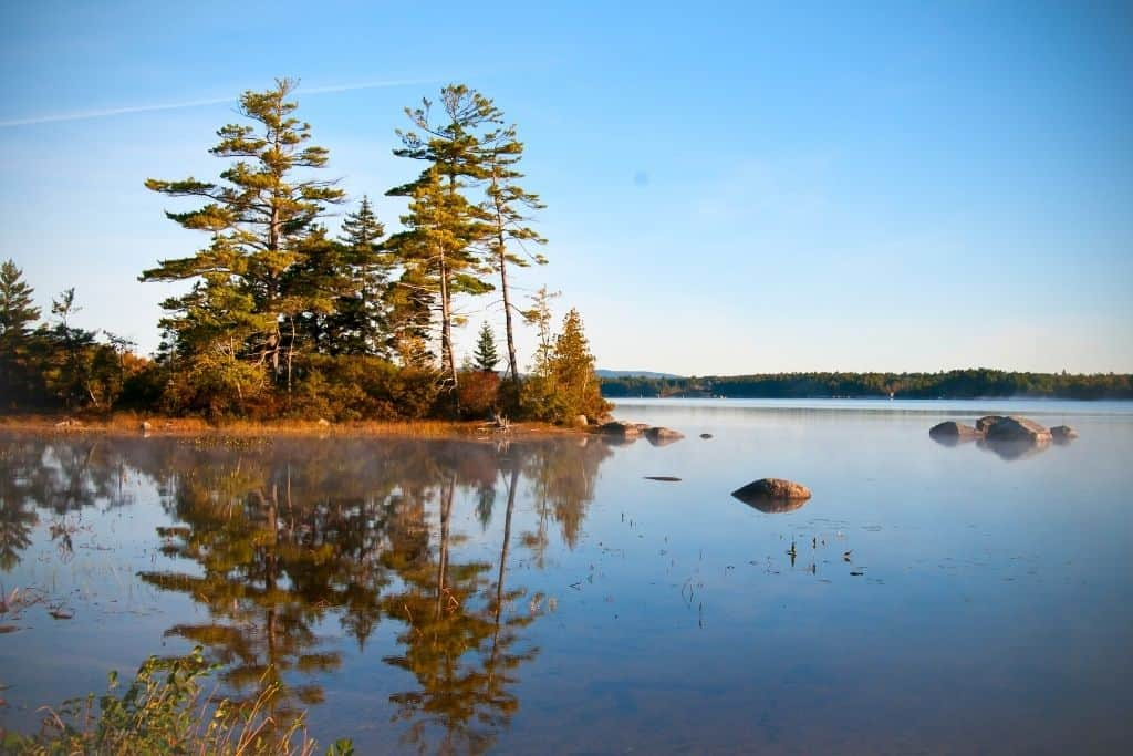 A lake in Blue Hill Bay Maine,