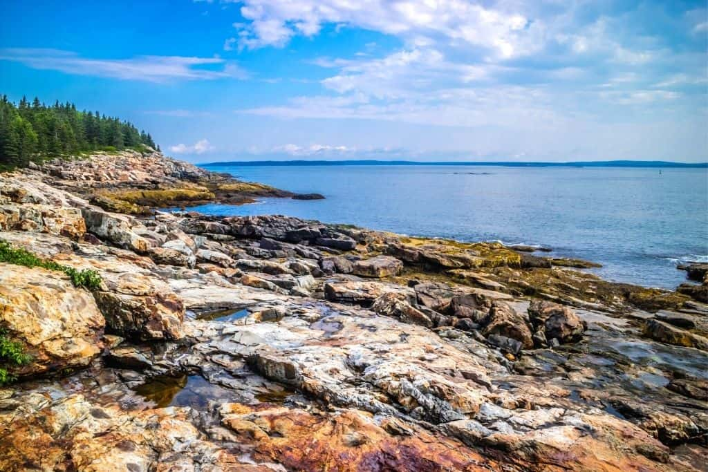 Views from the Great Head Trail in Acadia National Park.