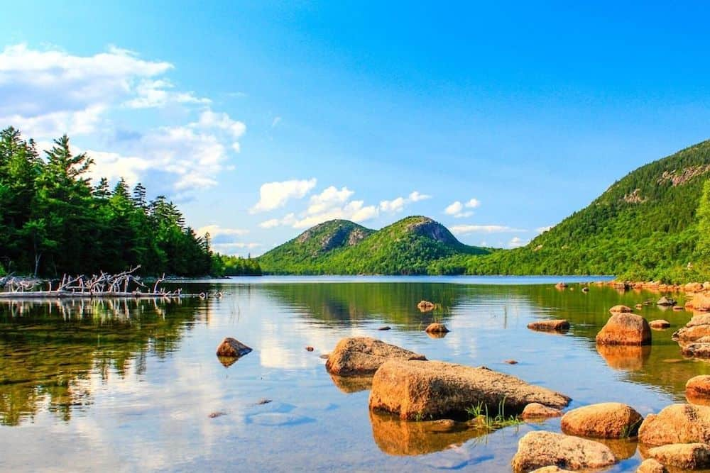 A view of Jordan Pond. Easily one of the best hikes in Acadia National Park.