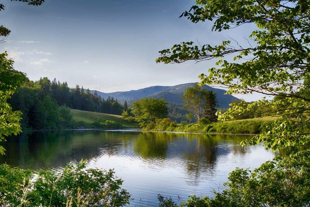 Pond and mountains in Acadia National Park