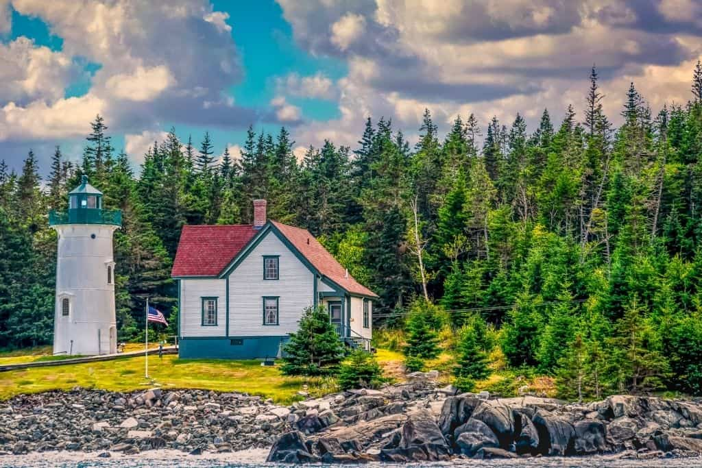 The Little River Lighthouse in Cutler, Maine.
