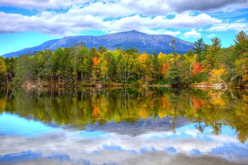 A view of Mount Katahdin in Maine.