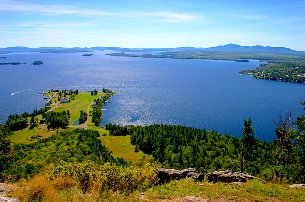 A view of Moosehead Lake from the summit of Mount Kineo.