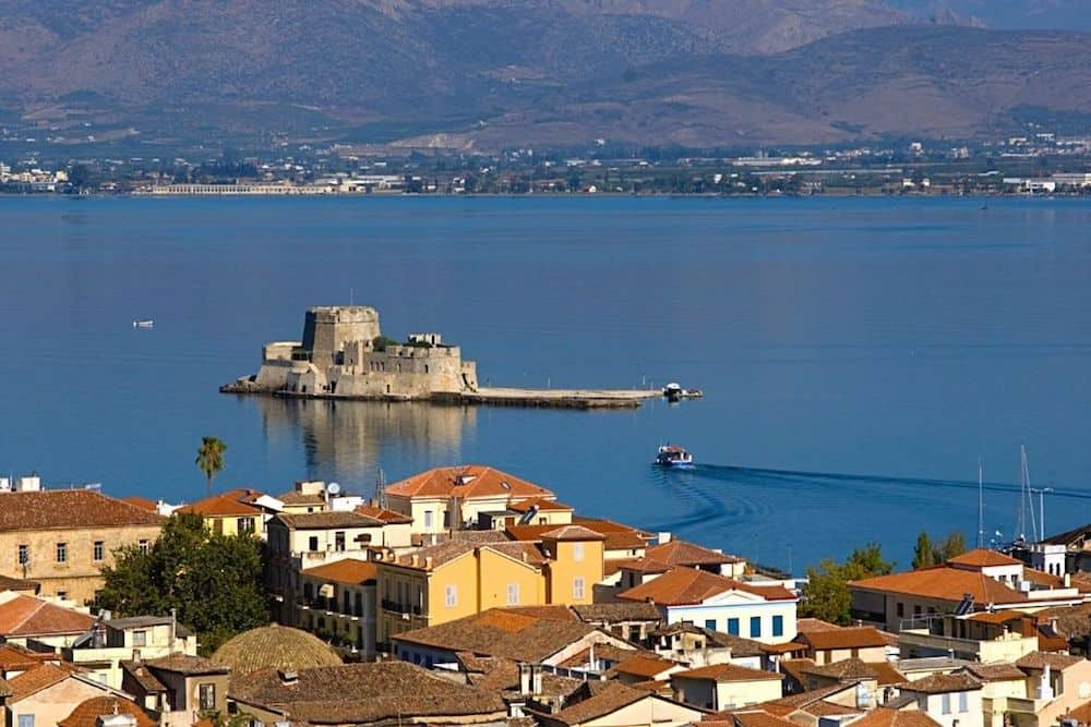 The Bay Fortress in Nafpilon, Greece.