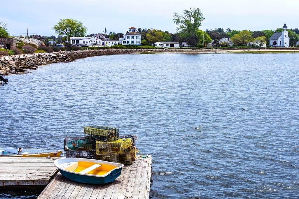 Popham Beach in Maine.