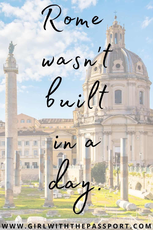 Rome sayings