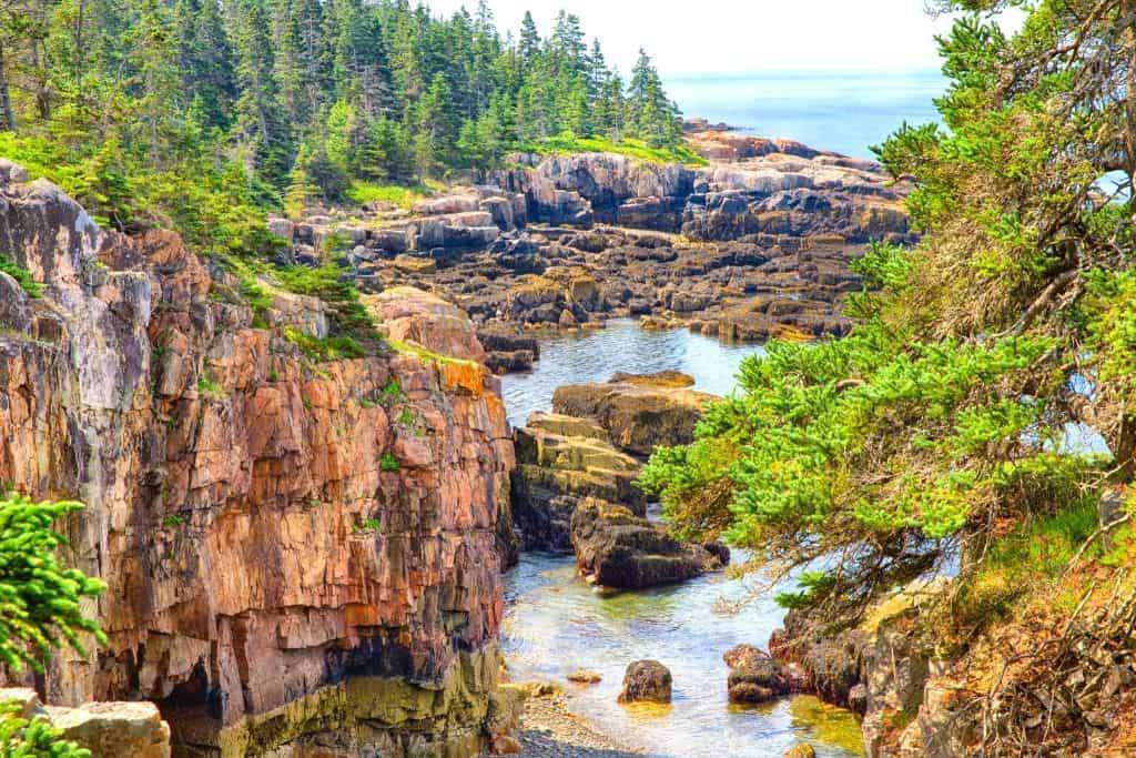 Natural landscape of the Schoodic Peninsula.