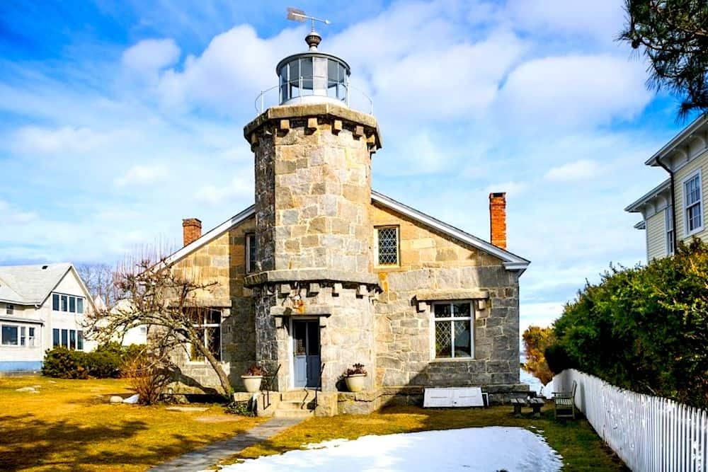 The old Stonington Lighthouse from 1840.