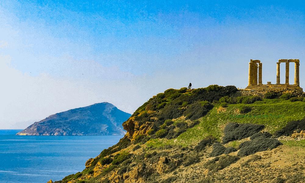 The Temple of Poseidon on Cape Sounion.