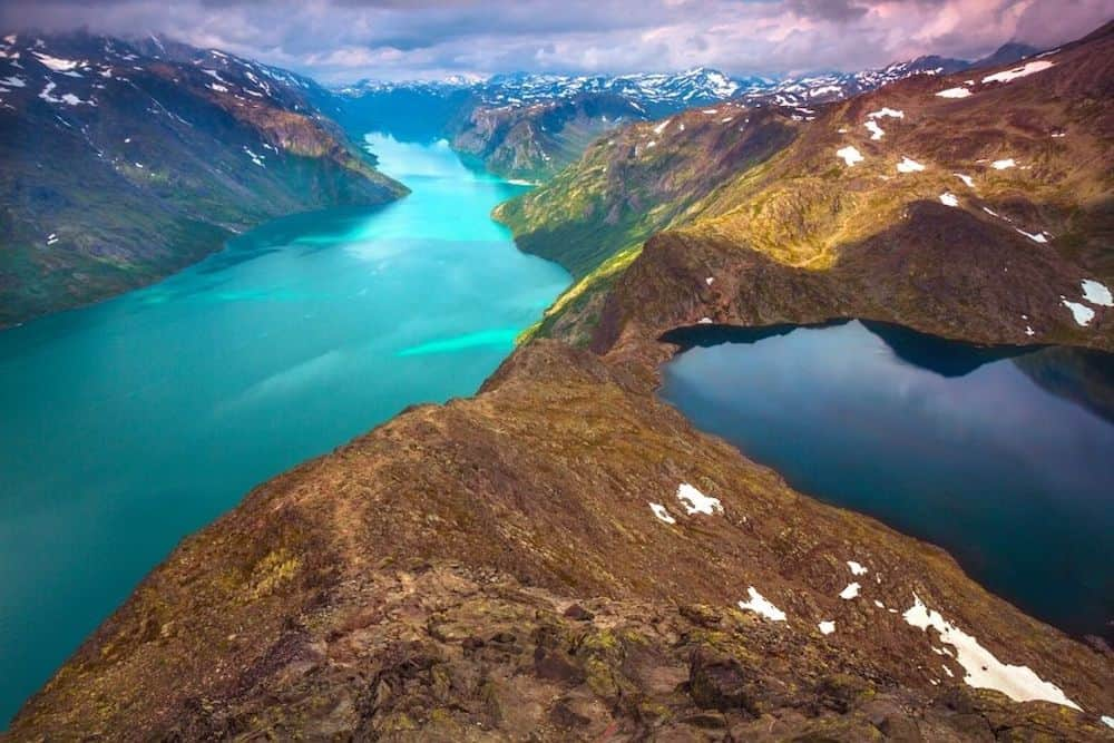 Besseggen Ridge fjord in Norway. One of the best hikes in Norway.