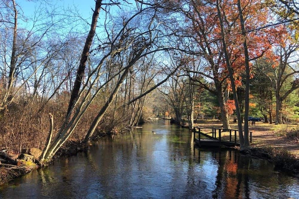 The river at Connetquot River State Park Preserve on Long Island.