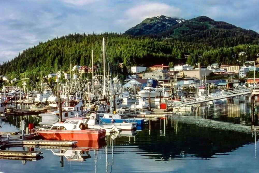 The harbor of Cordova, Alaska.