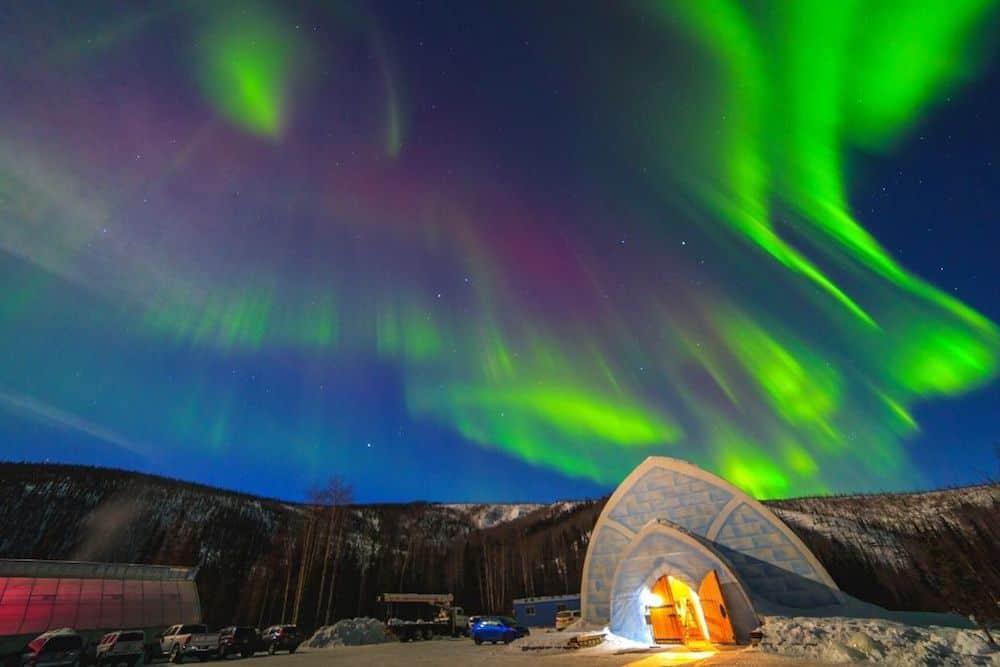 Northern Lights above Fairbanks, Alaska.