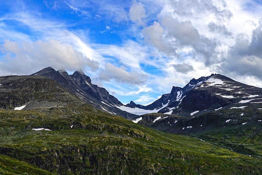 Panorama of Galdhøpiggen in Norway.