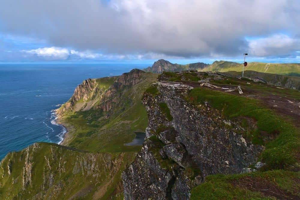 View from Måtinden peak in Norway.
