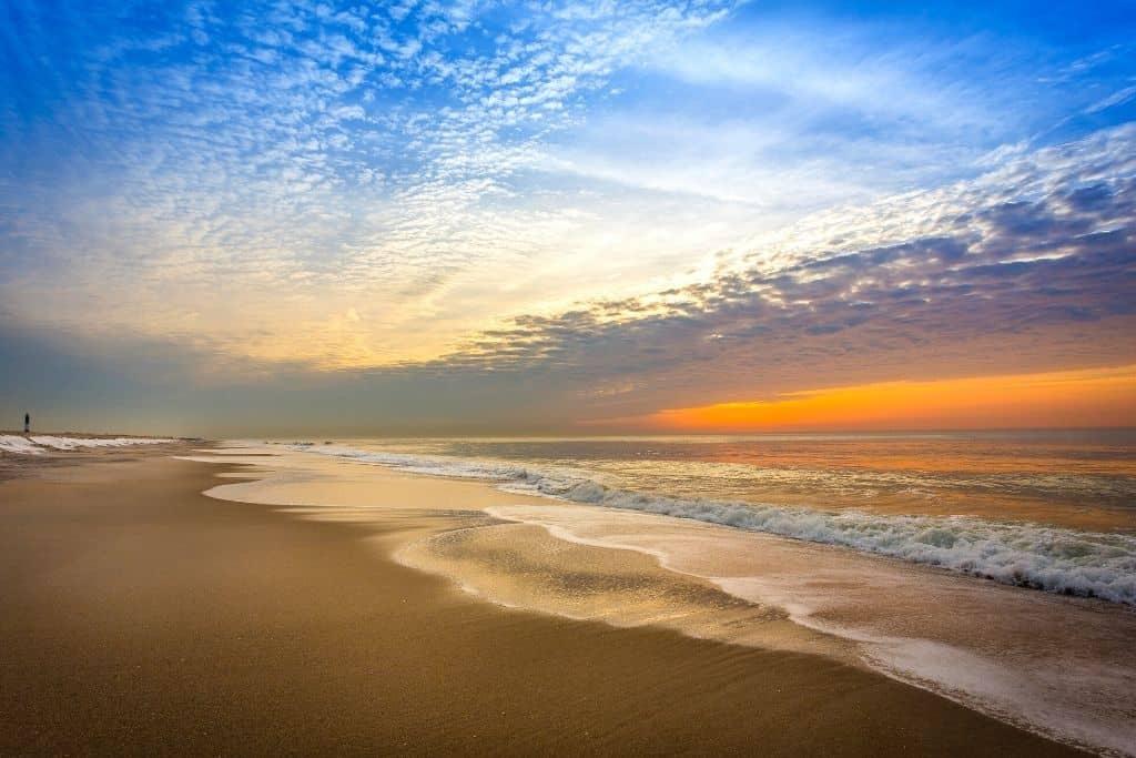 Robert Moses Beach at dusk on Long Island