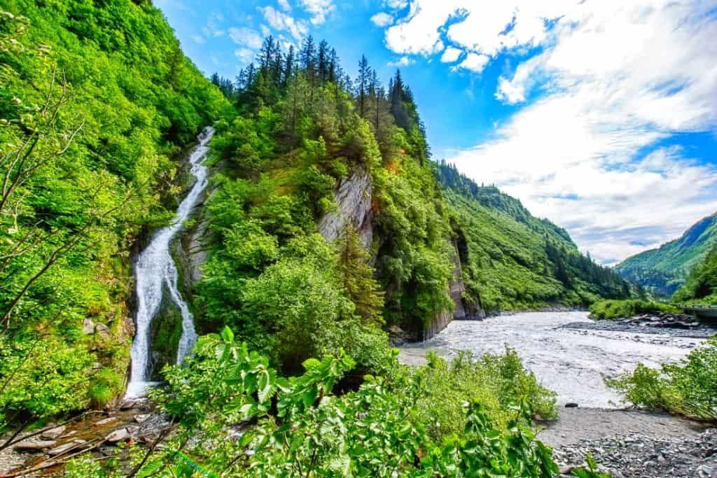 A waterfall near Valdez, Alaska.