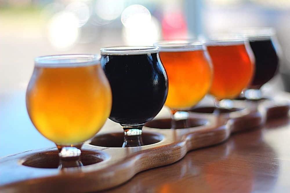 Flight of four beers